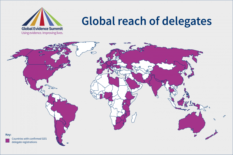 Global reach of GES delegates