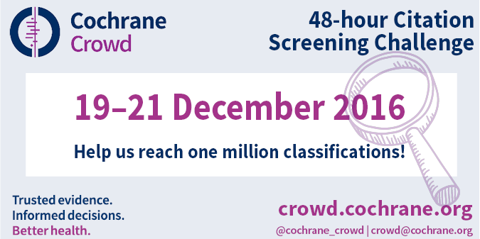Join the Cochrane Crowd 48-hour Citation Screening Challenge!