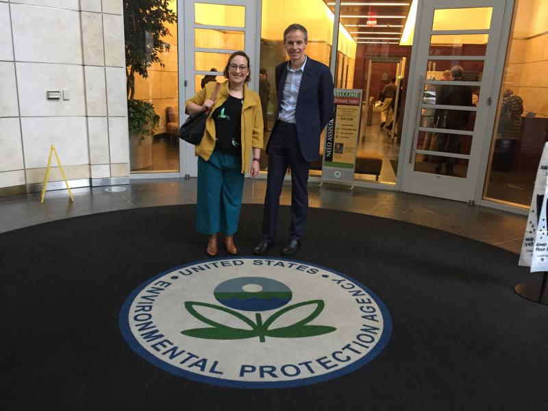 Annie and Julian at the US EPA