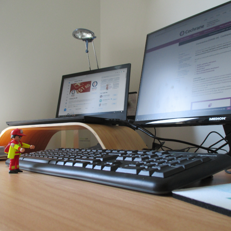Picture of Lego person and computer