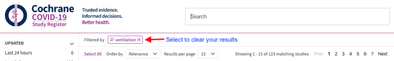 Clear search