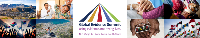 Global Evidence Summit banner